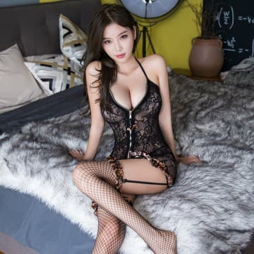 Amazing leopard pattern open file stockings large size small chest sexy lingerie free night fire passion set three-point