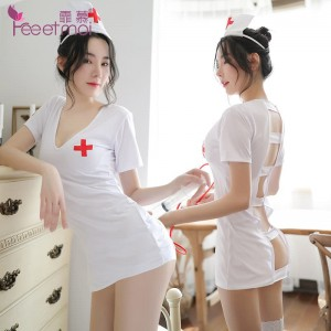 Admiration sexy lingerie white cosplay adult doctor sexy female nurse professional suit uniform seduction