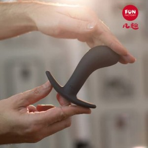 FunFactory shy butty BOOTIE men and women backyard massage anal plug sex toys (medium black)